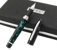 Duke 911 Celluloid Marble Green Luxurious Rollerball Pen Beautiful Shark Shape Medium Point Writing Business Office Supplies
