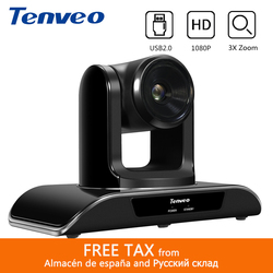 Tenveo VHD3U 3X Zoom USB kamera PTZ 1080P HD kamera konferencyjna 2MP z H.264 transmisja i przekaz na żywo kamery opieka zdrowotna w Systemy konferencyjner od Komputer i biuro na