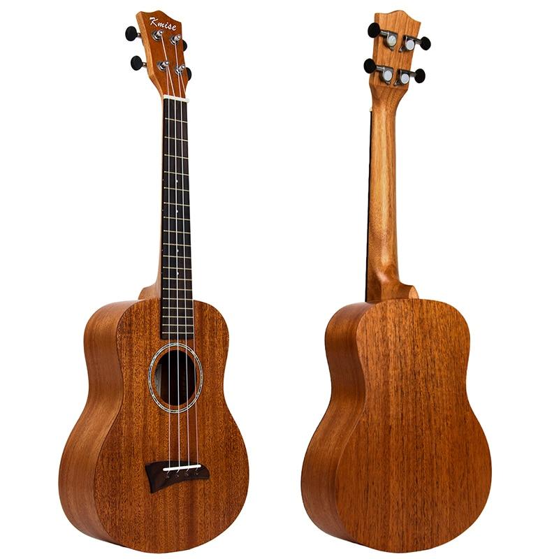 Kmise Tenor Ukulele Solid Mahogany Ukelele 26 Inch 18 Frets 4 String Hawaii Acoustic Professional Guitar kmise concert ukulele solid spruce ukelele uke 4 string hawaii guitar 23 inch 18 frets with gig bag