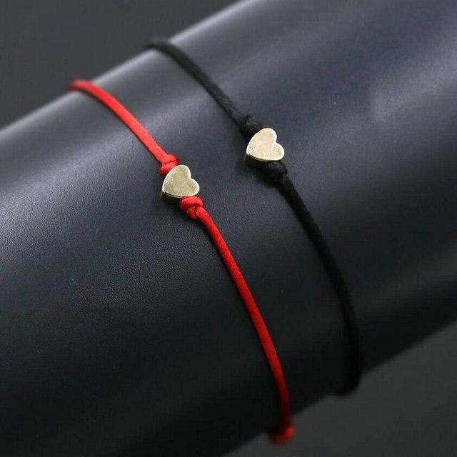 Bracelet Couple Pas Cher Rouge et Noir