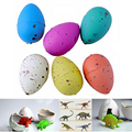 6PCS Magic Water Growing Dinosaur Egg Hatching Colorful Dinosaurs Add Cracks Grow Eggs Cute Children Kids Toy For Boys TY0017