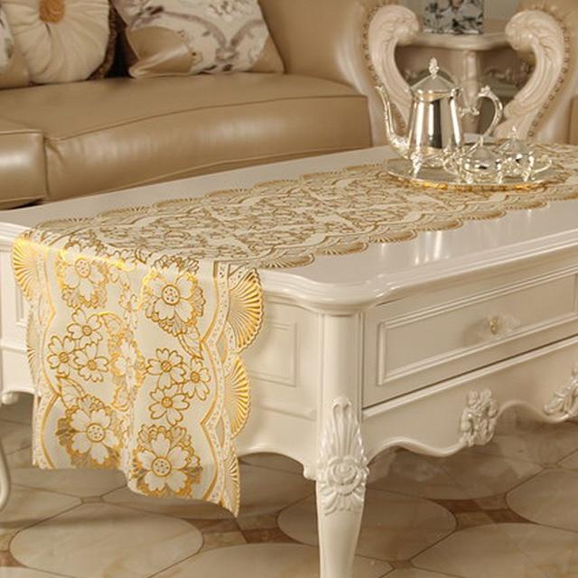 TV Table L'armoire Couvercle 6 Table Chemin PVC Fleur Mluti Home Cutwork De Nappes Fonction de Yazi taille Chemins Dorure Creux de De Noce Decor dans 3ASjqc54RL