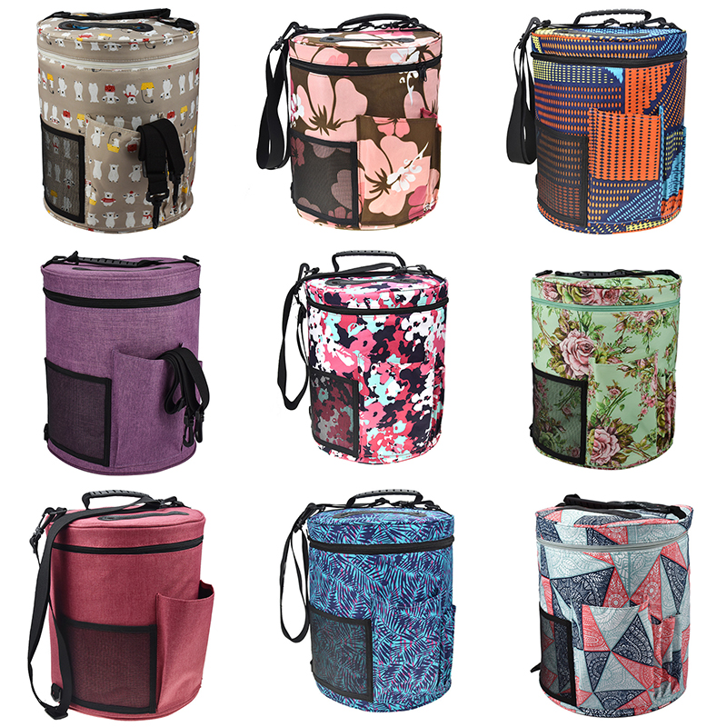 12 Styles Yarn Bag Knitting Crochet Large Tote For Hooks and Needles Balls