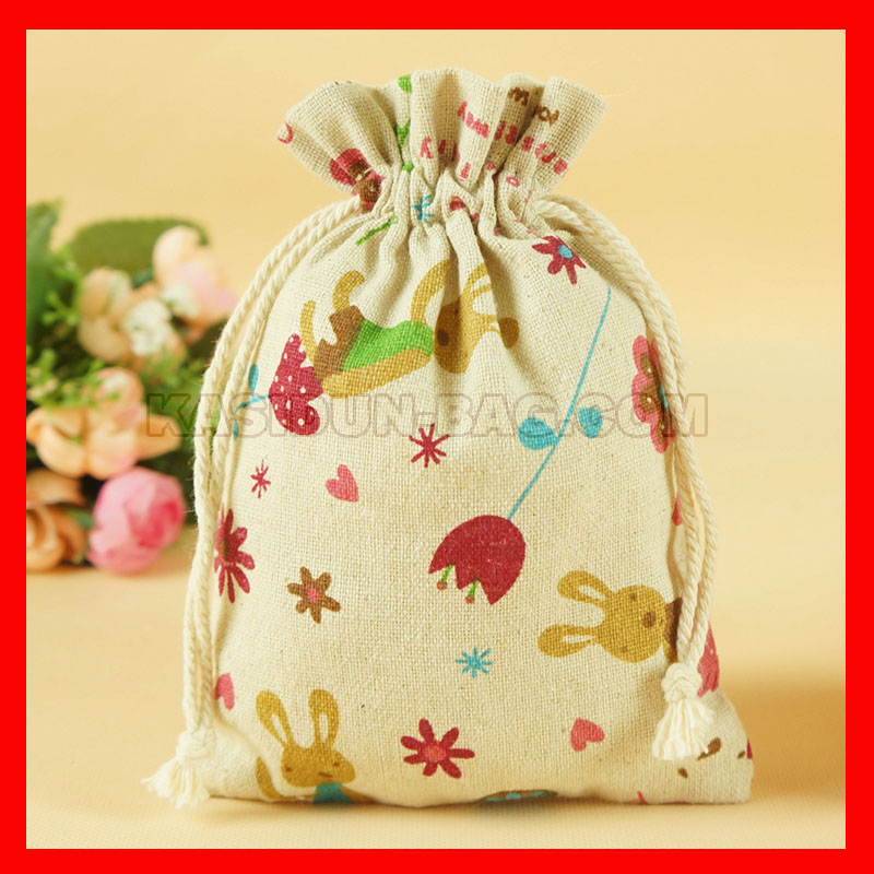 100pieces/lot wholesale printed draw string bag