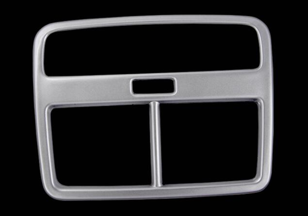 Rear AC Air Vent Cover For Audi A4 B9 2016 2017 Sedan Avant Allroad Pearl Chrome Interior Armrest Box Accessories