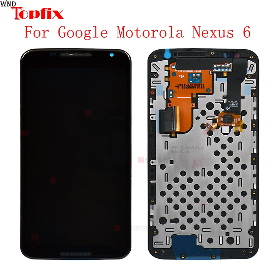 LCD For Motorola Nexus 6 XT1100 XT1103 LCD Display Touch Screen Digitizer Assembly with Frame 100% Tested For Moto Nexus 6 LCDLCD For Motorola Nexus 6 XT1100 XT1103 LCD Display Touch Screen Digitizer Assembly with Frame 100% Tested For Moto Nexus 6 LCD
