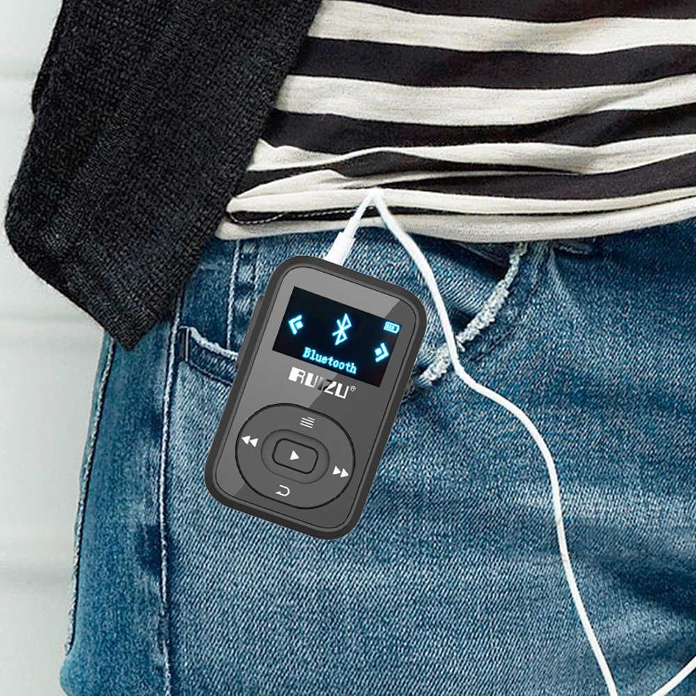 Neue Ankunft Original RUIZU X26 Sport Bluetooth MP3 Player 8gb Clip Mini mit Bildschirm Unterstützung FM, Aufnahme, e-buch, Uhr, Schrittzähler