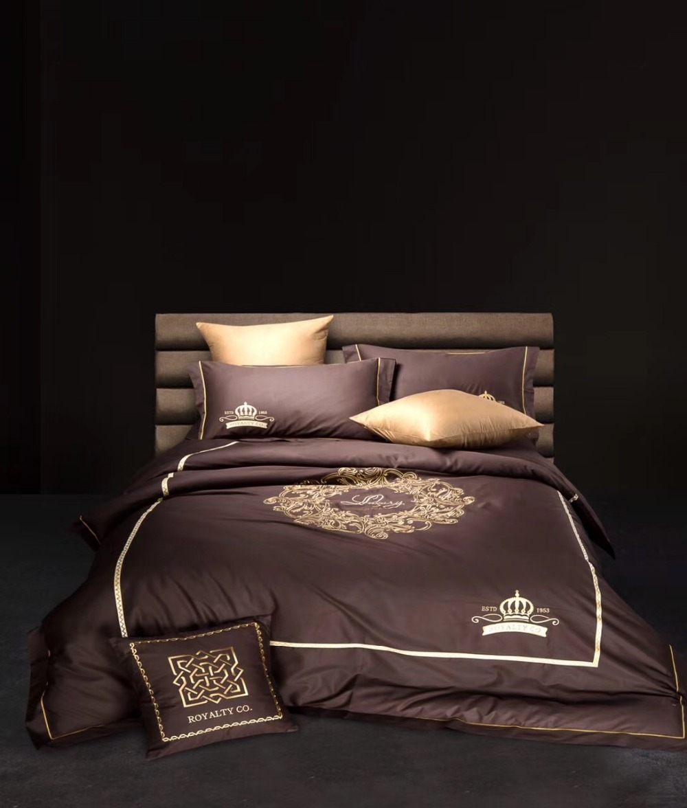 top grade luxury embroidered cotton european style 4pcs bed sheet bedclothes duvet cover <font><b>set</b></font> bedding <font><b>set</b></font>