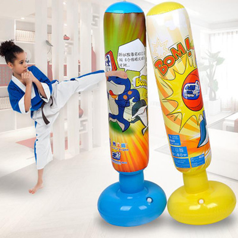Honest 1.25 Meters Fitness Adult Children Inflatable Vertical Boxing Bag Column Tumbler Inflatable Pvc Sand Bags Thickened Vented Toys Fitness & Body Building