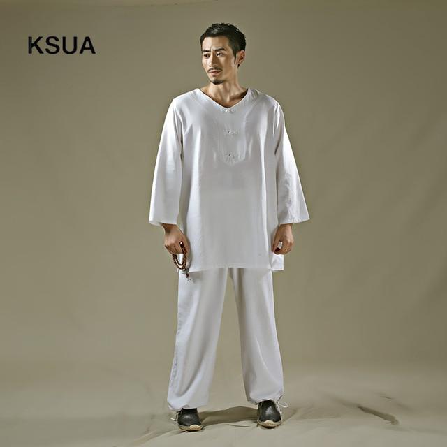 2017 linge yoga chemise pantalon zen m ditation v tements homme sportswear ensemble grand taille. Black Bedroom Furniture Sets. Home Design Ideas