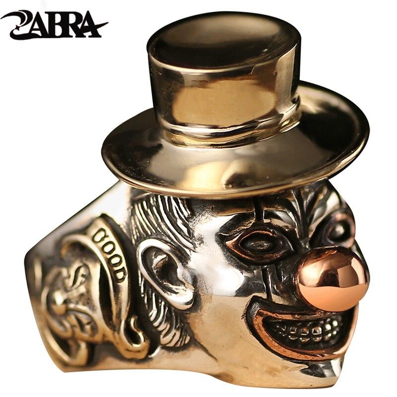 925 пробы Серебряные кольца Для мужчин клоун Стиль со смайликом Превосходное качество подарок для панк рок мода мальчик тайский серебряный В