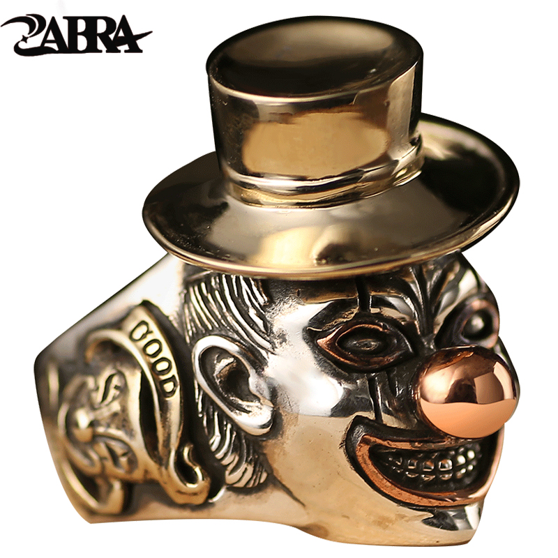 925 Sterling Silver Rings Men Clown Style Smile Face Superior Quality Gift for Punk Rock Fashion Boy Thai Silver Vintage Ring