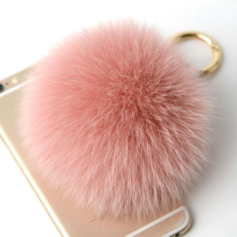 10cm Large Real Fluffy Leather Pompom Fox Fur Ball Fur Pom Pom Keychain For Keys Fur Car Key Chain Women Bag Charm Accessories все цены