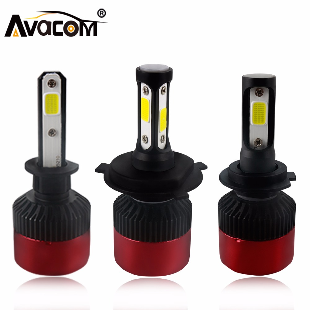 H4 H7 LED Car Headlight Bulb COB H11 H1 H3 9005 9006 All in one Fog light  Hi-Lo Beam 72W 8000LM 6500K IP65 Auto Headlamp kit nighteye cob h7 led headlight 70w 9000lm all in one car led headlights bulb headlamp fog light 12v auto replacement parts 6000k
