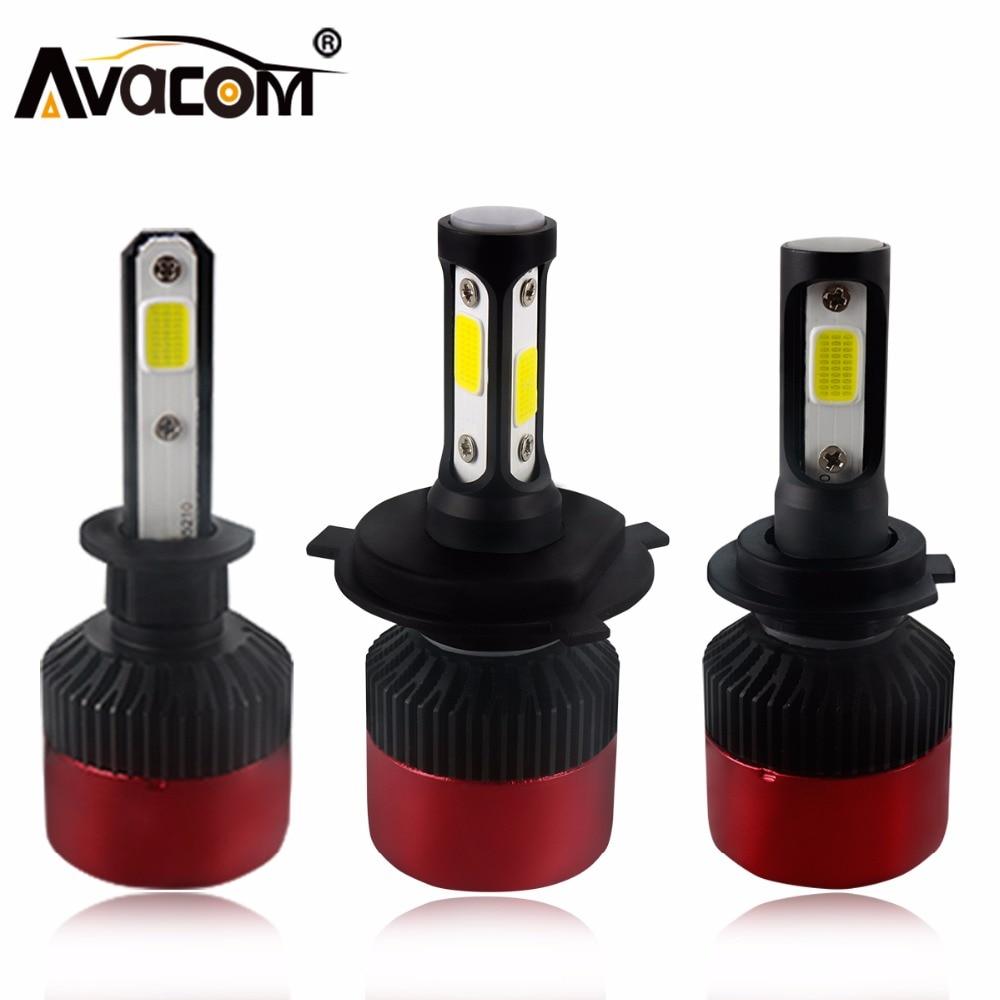 H4 H7 LED Car Headlight Bulb COB H11 H1 H3 9005 9006 All in one Fog light  Hi-Lo Beam 72W 8000LM 6500K IP65 Auto Headlamp kit leadtops led h4 h7 h11 h1 h13 h3 9004 9005 9006 9007 cob led car headlight bulb hi lo beam 72w 8000lm 6500k auto headlamp 12v dj