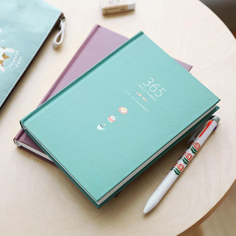365 Tage Persönliche Tagebuch Planer Hardcover Notebook Tagebuch 2018 Bürowochen Zeitplan Nette Koreanische Briefpapier Libretas Y Cuadernos Notebooks