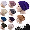 Mujeres bufanda musulmán Hermosa Mini Tapas Turbante turbante Underscarf Islámico hijab bufanda de Mujer de marca diseñador bufanda