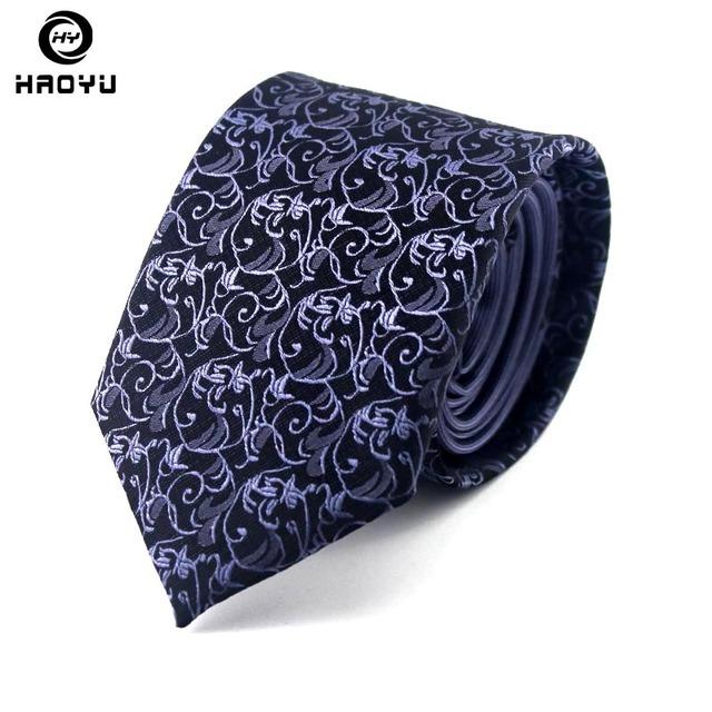 Alta Qualidade 100% de Seda dos homens Laços Gravata 7 cm Gravatás Jacquard de Seda da Festa de Casamento Gravata Corbatas Hombre 2016 na Caixa embalagem