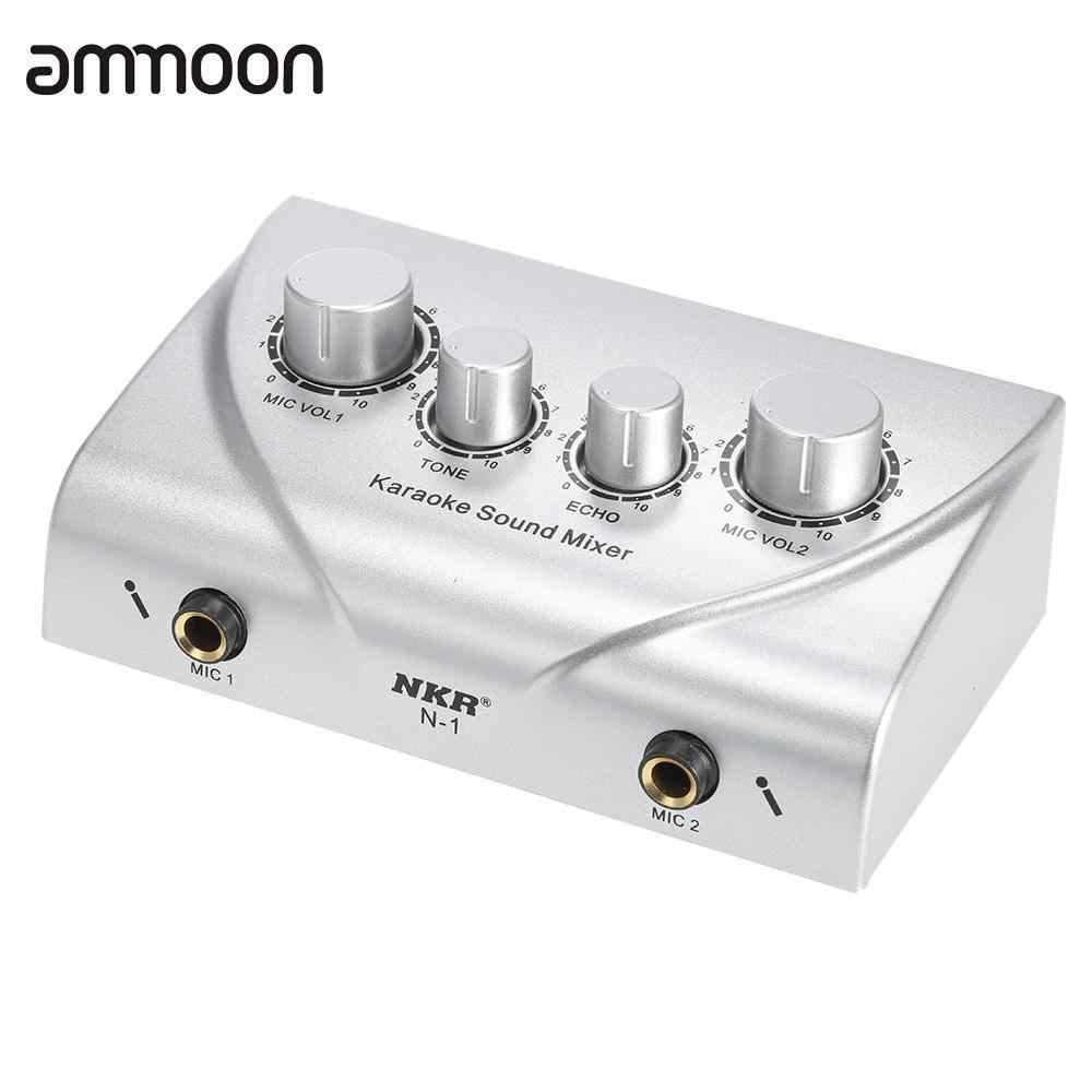 Караоке звуковой микшер микрофон караоке OK усилитель и микрофон микшер двойной микрофон входы с кабелем серебристый/черный/золотой для опции