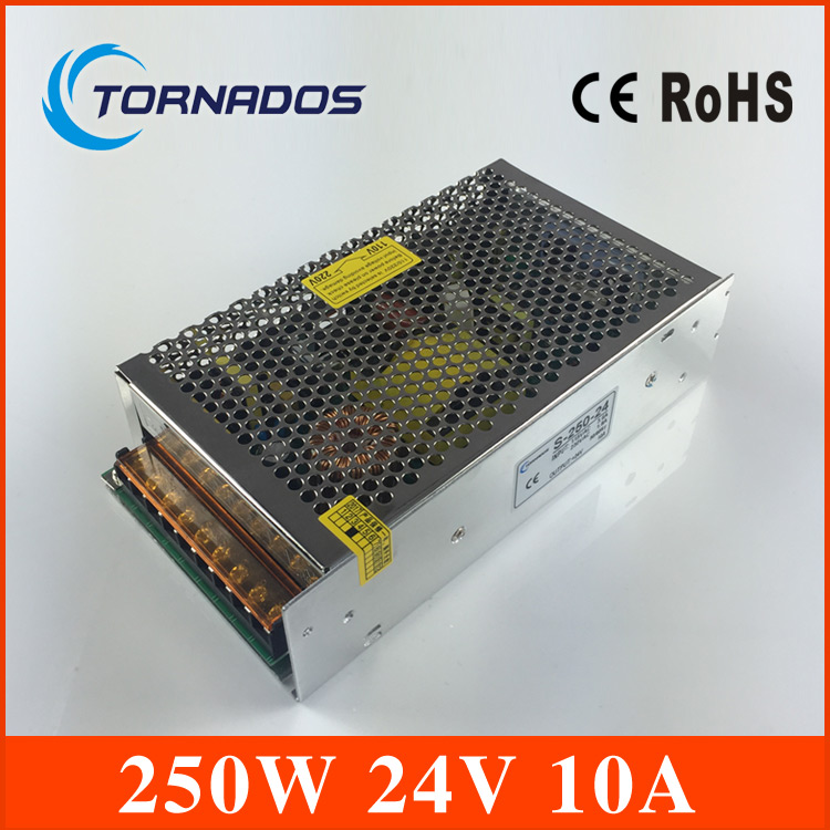 Free Shipping Universal power supply 24V 10A 240W Switch Power Supply Driver Switching For LED Strip Light Display 110V 220V