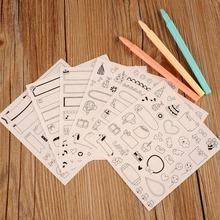 New 6pcs Set Paper Stickers Lovely Cute Funny for Diary Scrapbook Calendar Book Photo Decor book