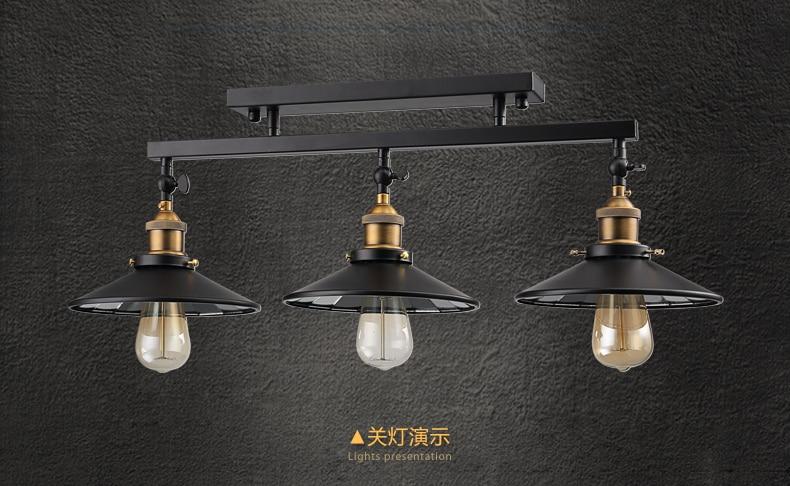 Moda vintage potkrovlje željezo stropna svjetiljka rasvjetni ormar - Unutarnja rasvjeta - Foto 6