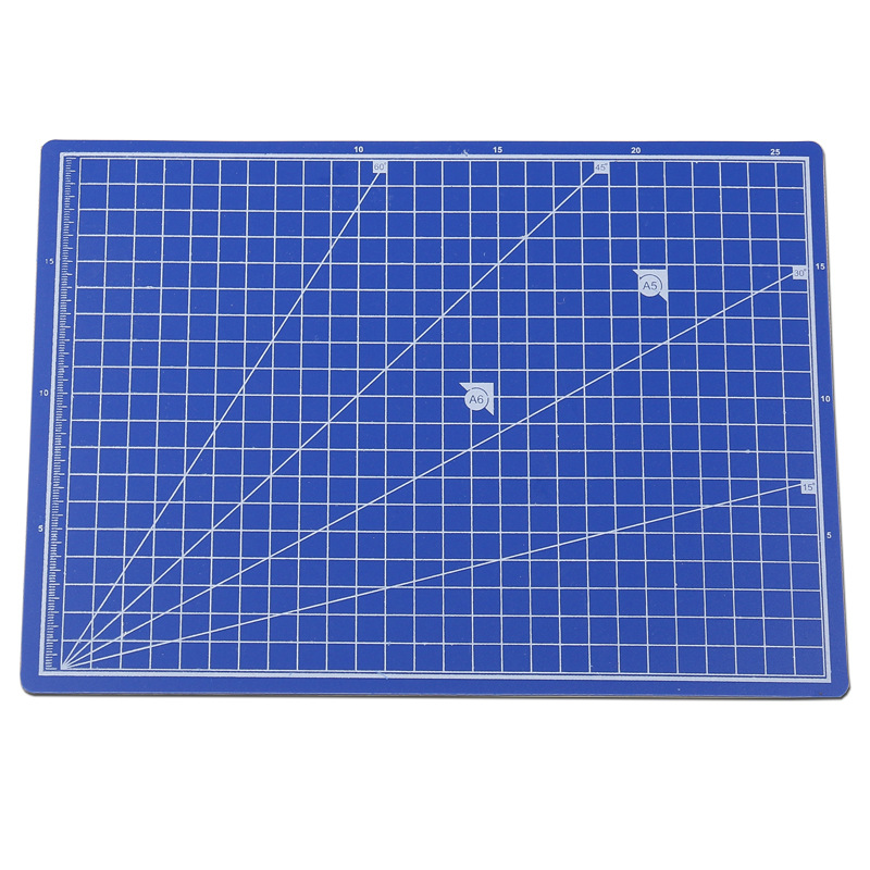 20.5*28cm A4 PVC Cutting Mat Blue Mouse Pad DIY Patchwork Design Cut Carving Tool Manual Double-sided Self-healing Cutting Board