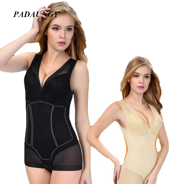 73cdcef573 PADAUNGY Hot Shapers For Women Thin Push Up Bodysuits Waist Trainer Slimming  Underwear Full Bodyshaper Plus Size Butt Lifter