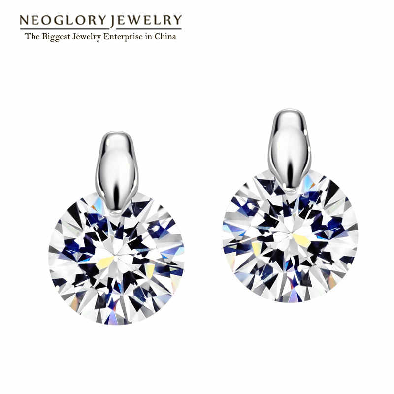 Neoglory Charm Cute Stud Earrings Women Girl Gifts Fashion Wedding Bridal Online Shopping Indian Jewelry 2018 New EA1 Simp-e P1