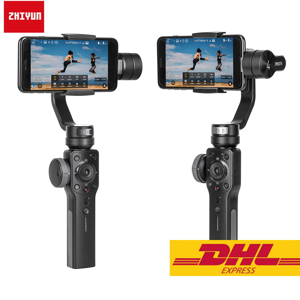 Zhiyun Smooth 4 3 Axis Handheld Smartphone Gimbal Stabilizer for iPhone XS Max XR X 8Plus
