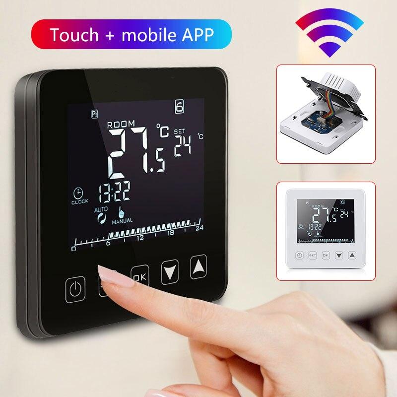Thermostat Intelligent APP contrôle chauffage électrique écran tactile bureau Intelligent régulateur de température contrôleur Wifi Durable - 5