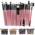 22 Pcs Pro Pó Foundation Eyeliner Eyeshadow Blush Lip Escova Maquiagem Tool