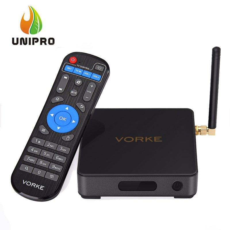 Prix pour EN STOCK! VORKE Z1 Amlogic S912 Android 7.1 4 K VP9 Smart TV BOX 3G DDR4/32G mem 802.11AC WIFI Gigabit LAN Dolby HDMI