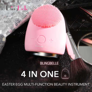 BlingBelle Easter Egg Soft Silicone Facial Cleansing Brush 9 Gear Skin Scrubber Light Therapy Pimple Remover Tool Beauty Machine - DISCOUNT ITEM  40% OFF Beauty & Health