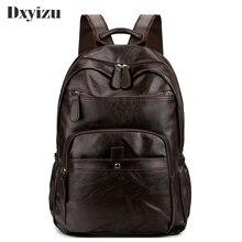 Waterproof Backpack Pu Leather Laptop Anti-thief Men Teenage Male Bagpack