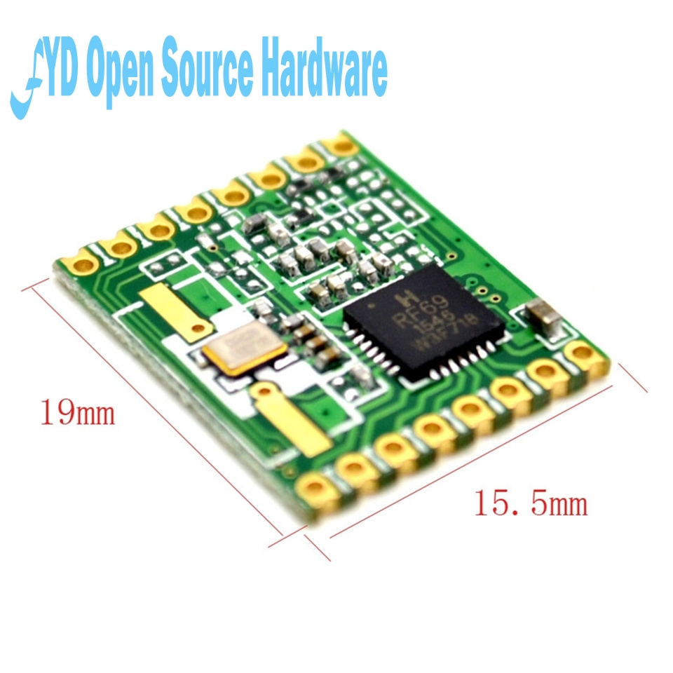 Free Shipping RFM69HW 868Mhz Transceiver Module High Integrated HopeRF Wireless 868S2 Module SPI 1.8-3.6V DC 0-800M Distance