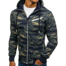 Zogaa 2019 Camouflage Hoodies Men New Sweatshirt Male Camo Hoody Hip Hop Hoodie Jackets Slim Sportswear