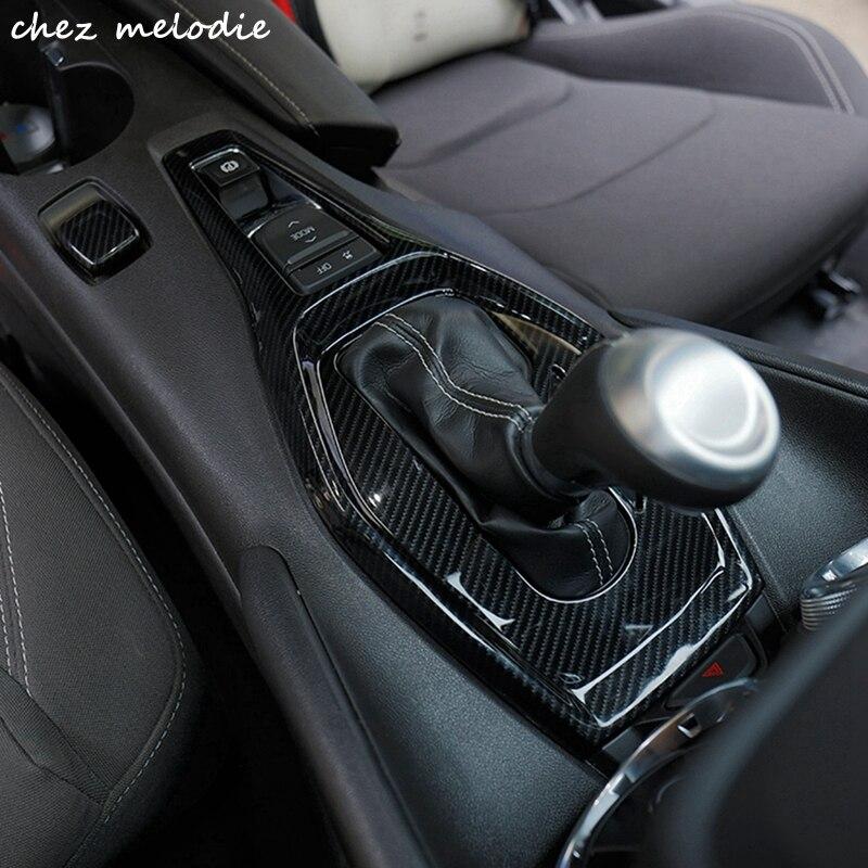 Нержавеющая сталь/углеродного волокна с принтом машинки внутри КПП декоративные панели крышка декоративная рамка для 2016 2017 Chevrolet Camaro