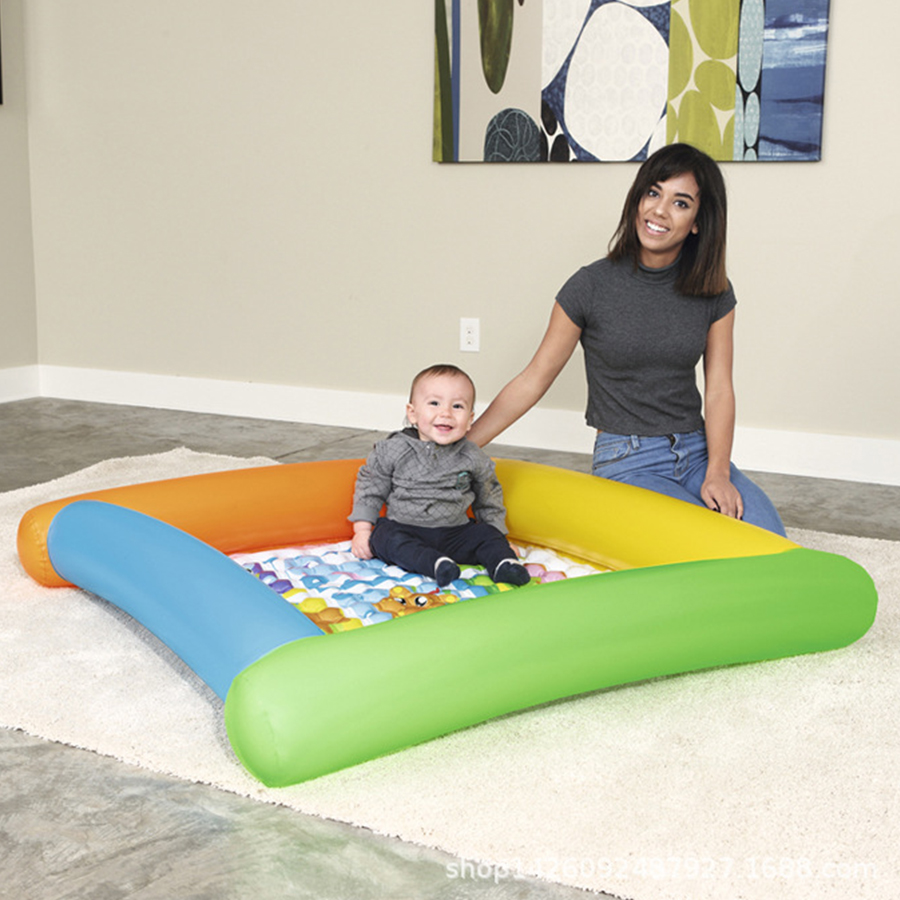 Cute and interesting Square Infant inflatable tub Inflatable bottom sand pool ball pool High density non-toxic PVC swimming pool