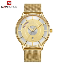NAVIFORCE New Men Watch Mens Watches Top Brand Luxury Quartz Clock Male Sport Steel Mesh belt Wrist Watch relogio masculino 2019