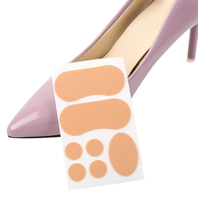 KLV 7Pcs High Heel Pads Shoes Cushion Blister Prevention Insoles Liners Anti Slip prevention