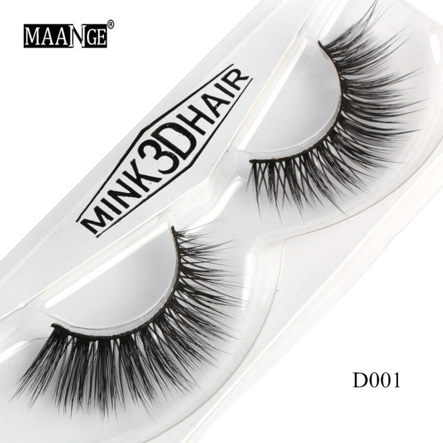 1 Pairs Mink Eyelashes Natural Long 3D Mink Lashes Hand Made False Eyelashes Full Strip Lashes Makeup False Eyelash Beauty Tool