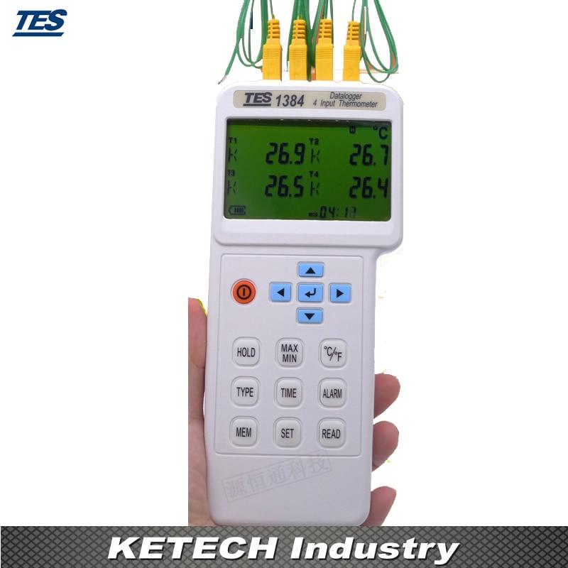 4 Input Thermometer Datalogger K, J, E, T, R, S, N, L, U, B, C types TTES1384 кружка цветная внутри printio s t a l k e r