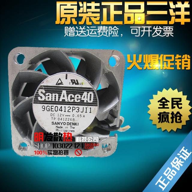 9GE0412P3J04 moldura de alumínio 0.65A 12 V originais 40*40*28 ventilador de equipamentos