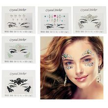 Acrylic Resin Crystal Face Body Gems Rhinestone Temporary Tattoo Jewels Eye  Glitter Festival Party Glitter Stickers Flash e2230f13be3d