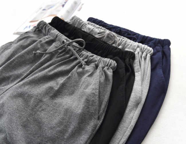 סתיו כותנה שינה Bottoms Mens פיג 'מה פשוט הלבשת פיג' מות מכנסיים עבור זכר Mens מכנסיים מכנסיים פיג 'מה Homewear בית בד