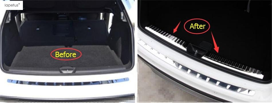 Accessories For Mercedes Benz GLA 200 220 X156 2015 2016 2017 Rear Bumper Foot Plate Trunk Door Sill Guard Protector Cover Trim for mazda cx 5 cx5 2017 2018 rear door sill plate protector tail trunk bumper guard cover trim car styling accessories