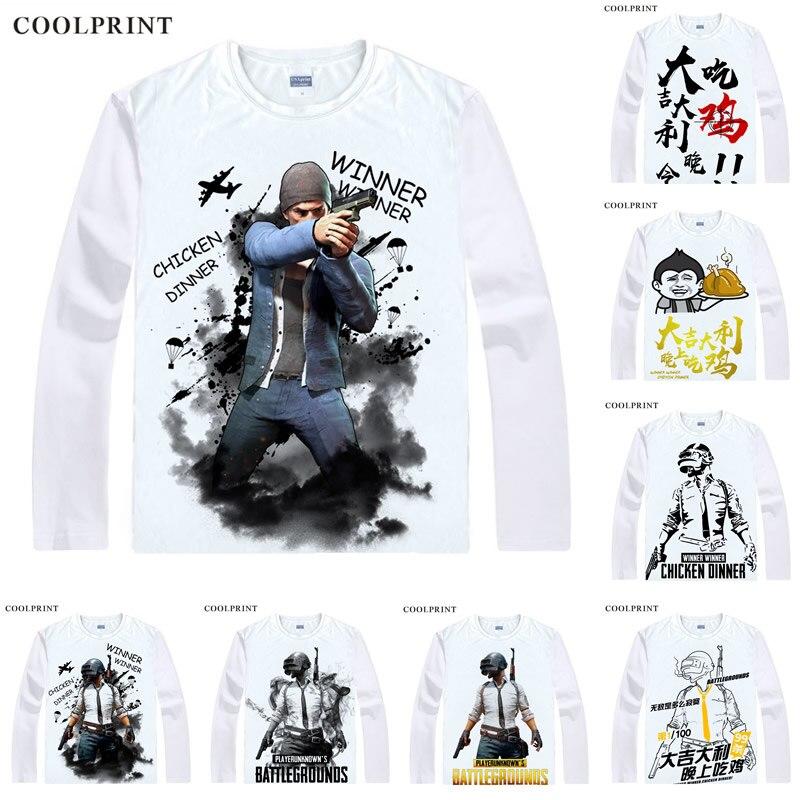 Cool Playerunknown S Battlegrounds T Shirt Large Size: PlayerUnknown's Battlegrounds T Shirts Long Sleeve Shirts
