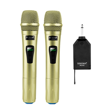 Wireless Microphone System Handheld LED Mic Speaker with Portable USB Receiver for Music Player KTV Speech Amplifier Recording