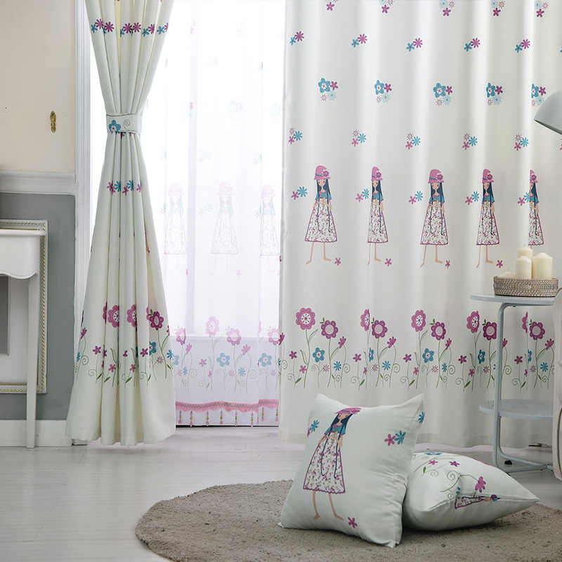 Simple Modern Curtains for Living Dining Room Bedroom Finished  Girls Curtains  Children's Room Girl Blackout Curtains Yarn